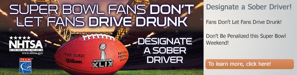 BE A TEAM PLAYER.  DESIGNATE A SOBER DRIVER.